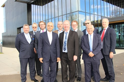 Secretary of State, Sajid Javid, visits Huntingdonshire